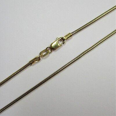 1868  - 44,5 cm / 1,4 mm Schlangenkette aus Gelbgold 333 - 2480