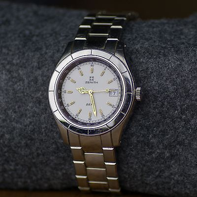 Zenith Men's Vintage Watch Defy ETA Movement Large Band plenty Extra Links