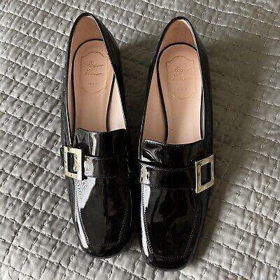 roger vivier black pumps patent leather 40