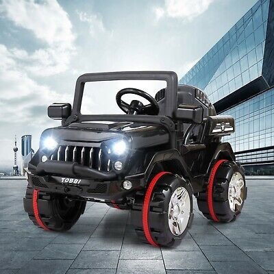 12V Kids Ride On Truck Car Electric Toy SUV Style w/ Remote Control LED MP3 Bk