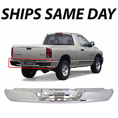 NEW Chrome Steel Rear Bumper Face Bar For 2002-2009 Dodge Ram 1500 2500 3500 HD