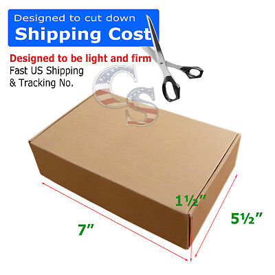 100 7x5x1 Cardboard Packing Mailing Moving Shipping Boxes Corrugated Cartons