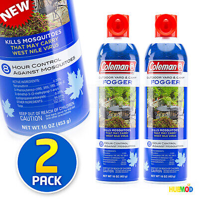 2 Pack Coleman Outdoor Yard & Camp Fogger Mosquito Repellent 8 Hour Control NEW