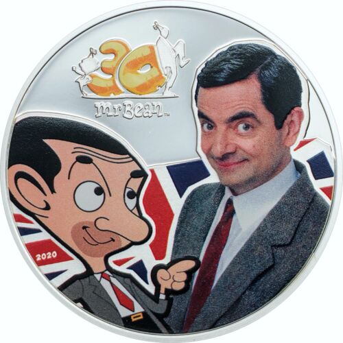 Mr.Bean 30th Anniversary 1 oz Proof Silver Coin Cook Islands 2020