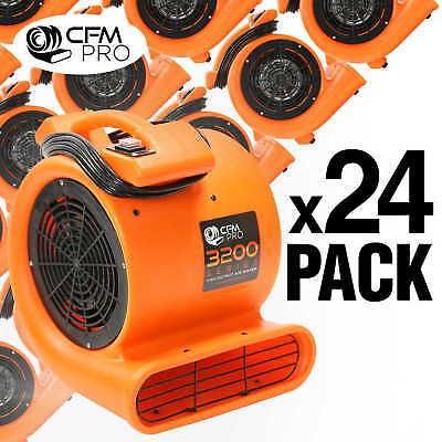 Air Mover 12 Hp Blower Fan - Industrial - Orange 24 Pack