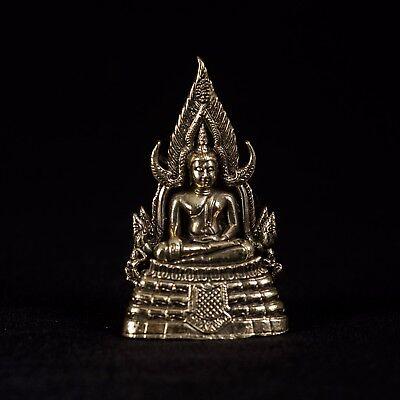 Sitzende Messing Thai Sukhothai Enlightenment Buddha Statue - 7cm (6.3cm) Groß ()