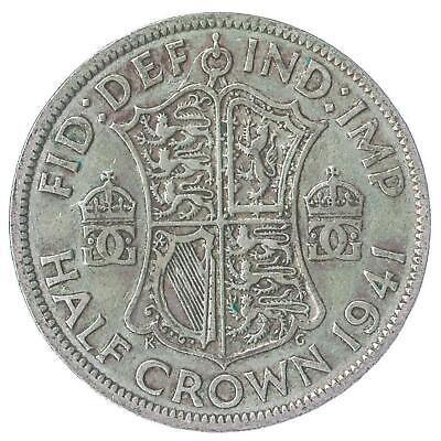 BRITISH 1/2 CROWN SILVER COIN - KING GEORGE VI 1937-1946 KM# 856