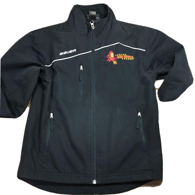 BAUER TEAM Hockey Warm up Jacket Black XS Small Black Jr SUN DEVILS Youth/Womens