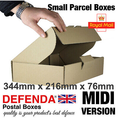 10 x MIDI Size Royal Mail SMALL PARCEL BOXES PiP Postal Packet 344mm 216mm 76mm