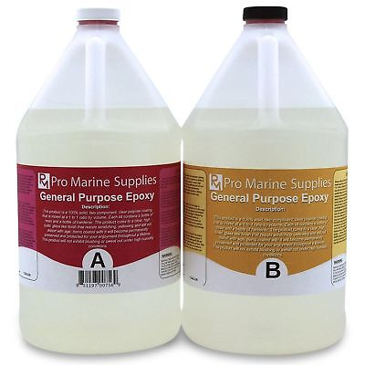 Crystal Clear Epoxy Resin General Purpose Bar Table Top Coating - 2 Gallon Kit