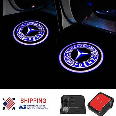 2x For Mercedes Benz LED Door Step Courtesy Light Laser Logo Projector Wireless