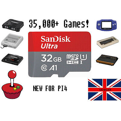 RetroPie Retro Gaming *SD Card Only* For Raspberry Pi 4 32GB - 35,000+ HD Games