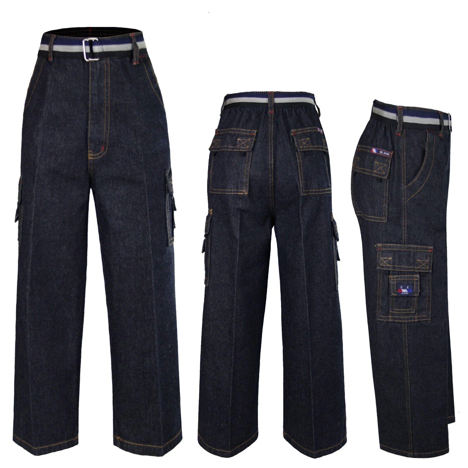 2T-16 Teens Kids Toddler Indigo Denim 8 Pockets Casual Jeans