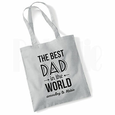 Personalised Baby Changing Nappy Tote Bag 'Best Dad' - GIFT FOR NEW DAD &