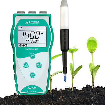 Apera PH850-SL Portable pH Meter for Soil  with LabSen  553 Electrode