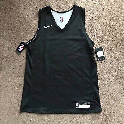 Nike NBA Player Issue Reversible Practice Jersey Black Medium 933573-010 NEW