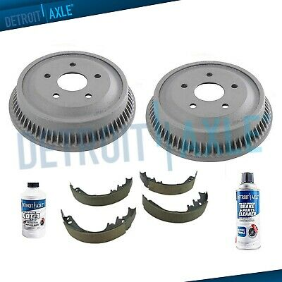 REAR. Brake Drums Ceramic Shoes for 1994-1997 1998 1999 Dodge Ram 1500 5 Lugs