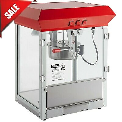 Carnival King Pm850 Royalty Series 8 Oz Red Commercial Popcorn Machine 120 V