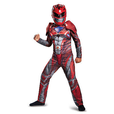 Disguise Red Power Ranger Movie Boys Classic Muscle Costume