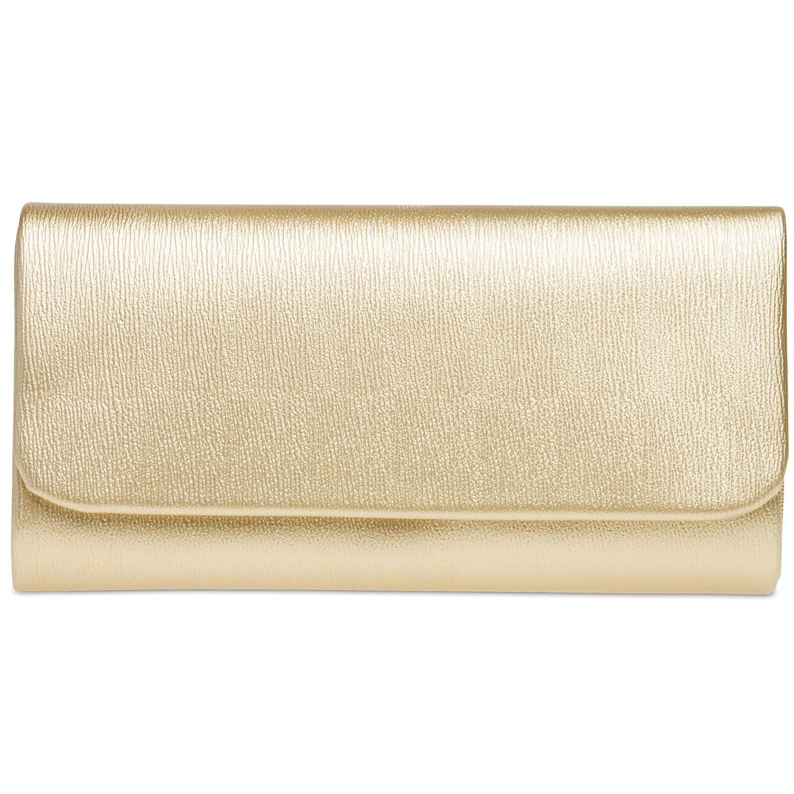 CASPAR TA371 elegante klassische Damen Baguette Clutch Tasche Abendtasche