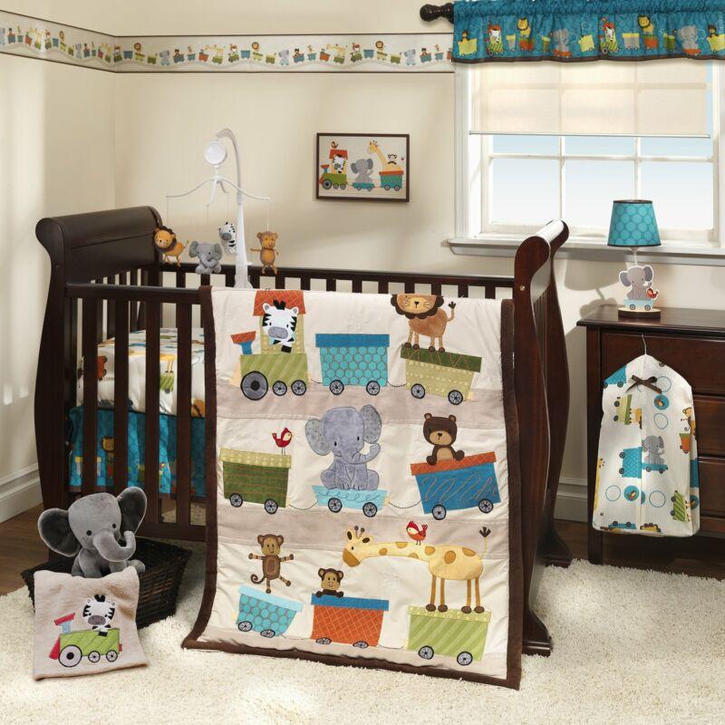 Bedtime Originals Choo Choo 3-Piece Crib Bedding Set - Brown, Beige, White