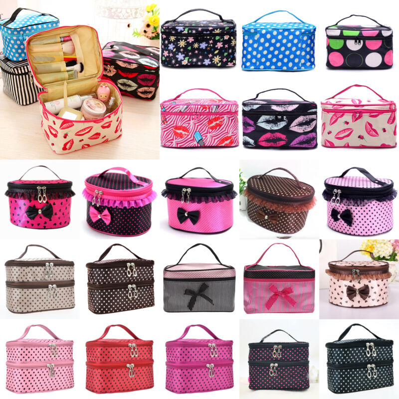 Travel Makeup Cosmetic Bag Multifunction Purse Box Toiletry