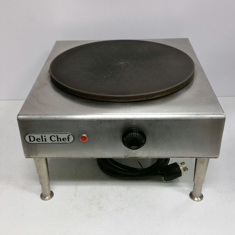 QUALITY - Commercial DELI CHEF 14 Inch Electric Cast Iron Crepe Maker Machine