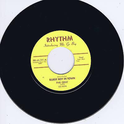 PHIL GRAY - BLUEST BOY IN TOWN / PEPPER HOT BABY (Killer NEW ROCKABILLY Repro)