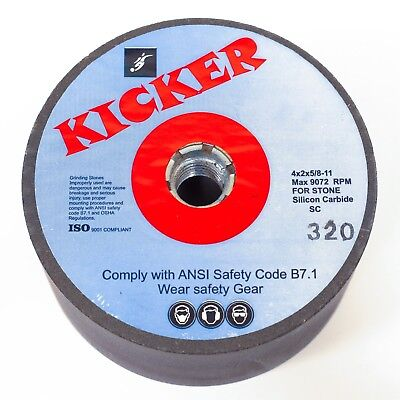 New Kicker Brand Silicone Carbide Grinding Wheel 4 X 2 320 Grit