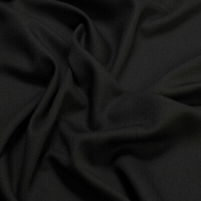 ose Satin schwarz fein knitterarm Mischgewebe (Polyester Satin)