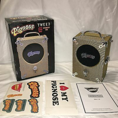 NEW Pignose TWEED 7-100 Guitar Portable Amp, Battery Powered