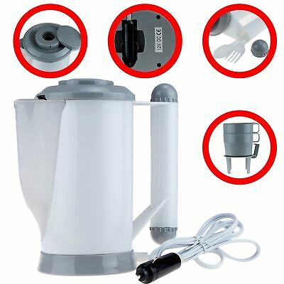 12V In Car Travel Kettle Cigarette Lighter Socket Camping Tea Coffee Rapid Boil