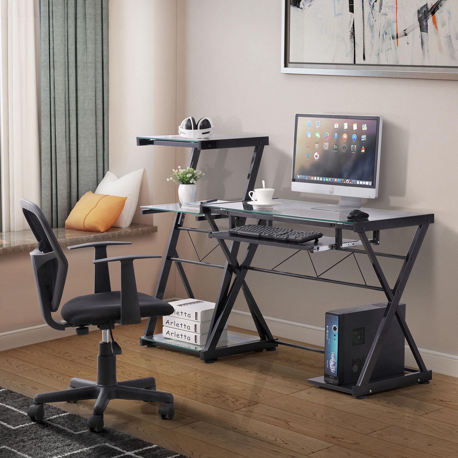 Details About PC Computer Desk Laptop Table Corner Workstatio N Office Home  Furniture Modern