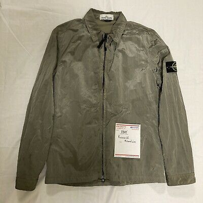 Stone Island Nylon Metal Overshirt Size Large Olive Green Supreme Box Logo TNF