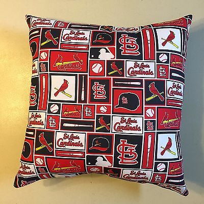 COMPLETE NEW 15 x 15 ST LOUIS CARDINALS MLB PILLOW - GREAT BASEBALL GIFT! PW