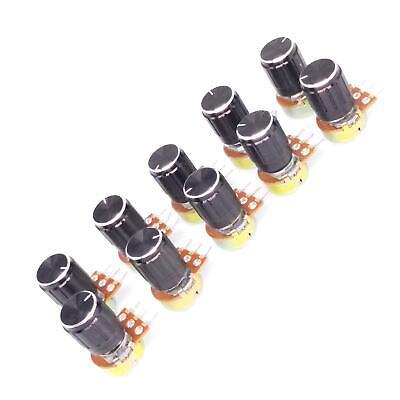 Us Stock 10 Units 2k B2k Ohm Linear Taper Rotary Potentiometer Pot Black Knob