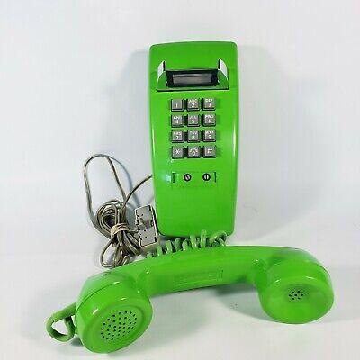 Rare STROMBERG CARLSON LIME GREEN SLIM DIAL WALL PHONE 2554B