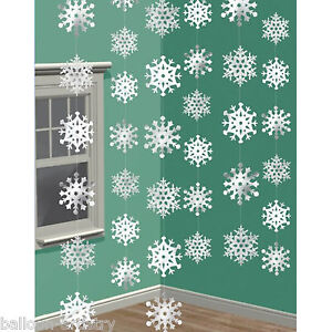 6-7ft-Shimmer-Frozen-Snowflake-Strings-Christmas-Decorations-Party-Supplies