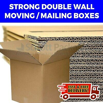NEW 10 X LARGE Double Wall Removal House Moving Cardboard Boxes