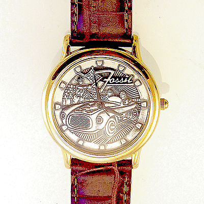 Race Car Finish Line, Fossil 3D Antique Raised Dial LTD Watch, 1/20,000 Only $79