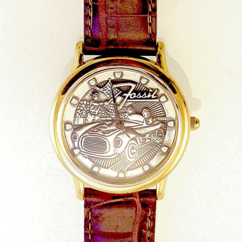Race Car Finish Line, Fossil 3D Antique Raised Dial LTD Watch, 1/20,000 Only $75