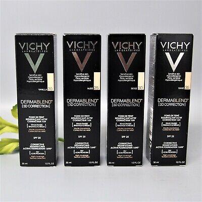 3D Vichy Dermablend 3D CORRECTION SPF25 foundation 30ml -Choose- 20,25,30,35