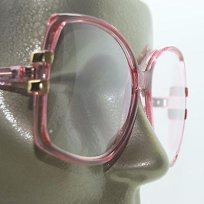 Big Glamour Statement Rose Pink Polished Frame Reading Glasses +1.00 (Glamour Glasses)