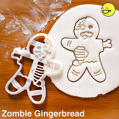 Zombie Gingerbread Man cookie cutter | Christmas Halloween Easter Party cookies  for sale  Shipping to Canada