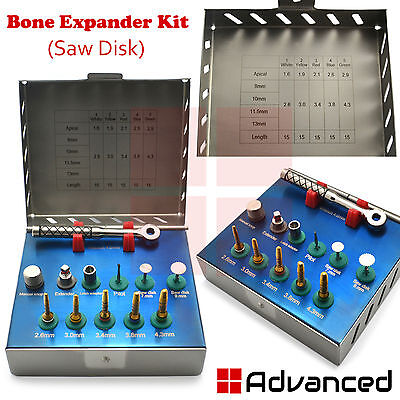 Dental Bone Expander Kit With Saw Disk Surgical Sinus Lift Implant Instruments