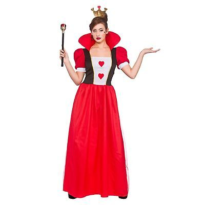 Storybook Queen Fairytale Queen Of Hearts Adults Womens Fancy Dress Costume