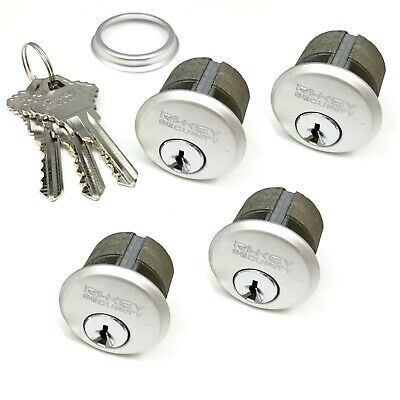 4 New Mortise Lock Cylinders 1 For Store Front Door Adams Rite Brass And 3 Keys