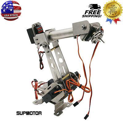 6dof Mechanical Robotic Arm Clamp With Servos Diy Kit For Robot Arduino Scm Usa