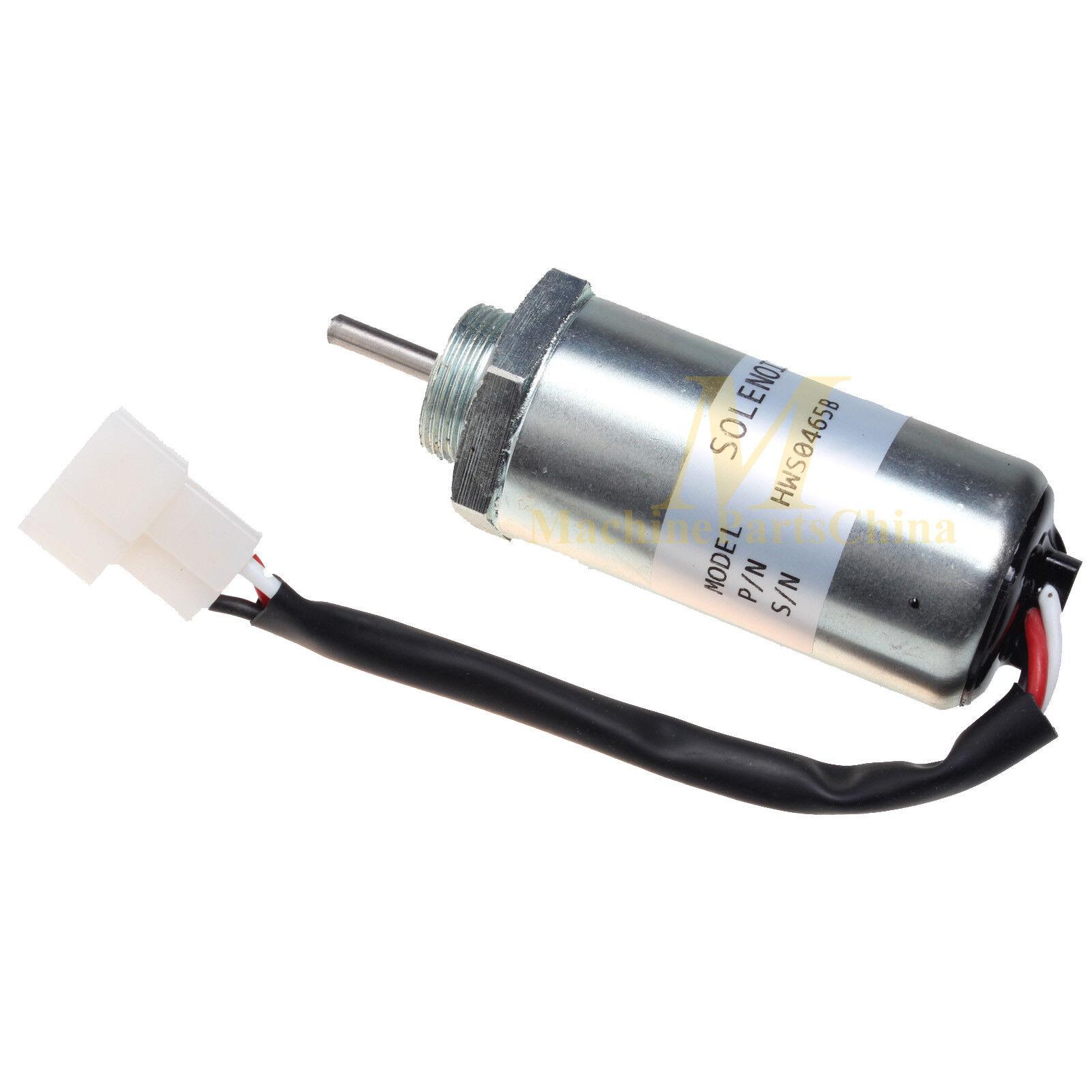 12V Fuel Shutoff Solenoid 8973295680 For Isuzu 3LD1 3LD2 4LE1 3LB1 4LB1 Engines