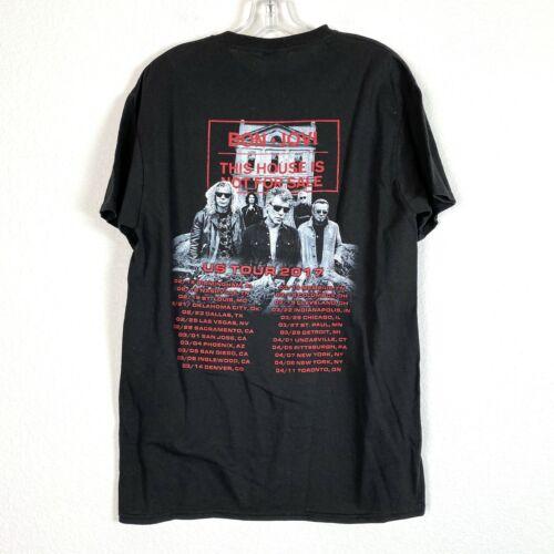 BON JOVI Concert T Shirt Medium This House is not For Sale Black 2017 Delta
